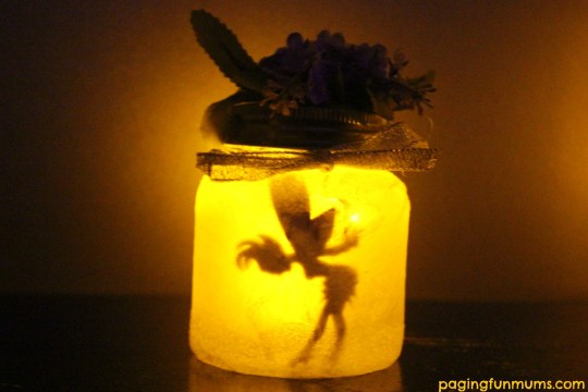 Adorable DIY Fairy Jar Night Light