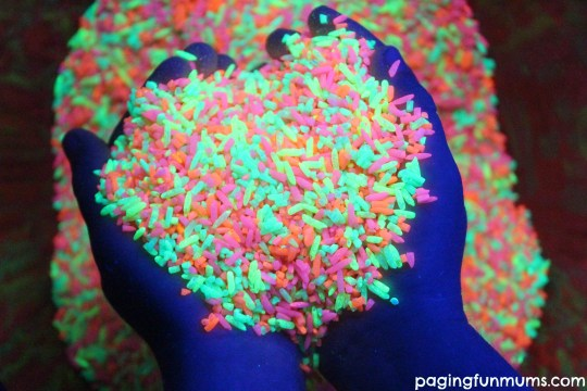 Amazing Glow in the Dark Rainbow Rice
