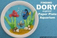 Finding Dory inspired Paper Plate Aquarium - Paging Fun Mums