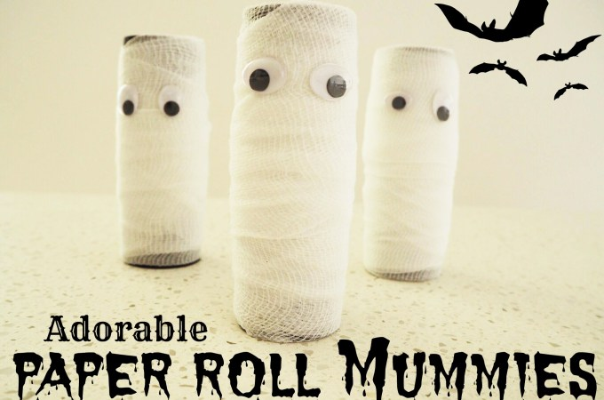 Adorable Paper Roll Mummies
