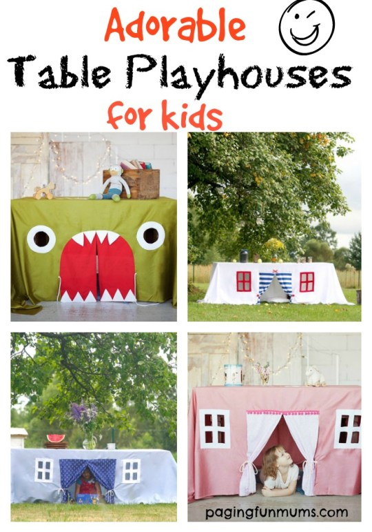 Adorable Table Playhouses for kids