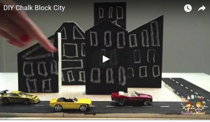 DIY Chalk Block City