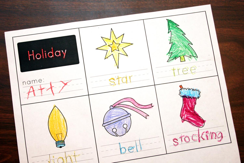 Holiday Handwriting Worksheet