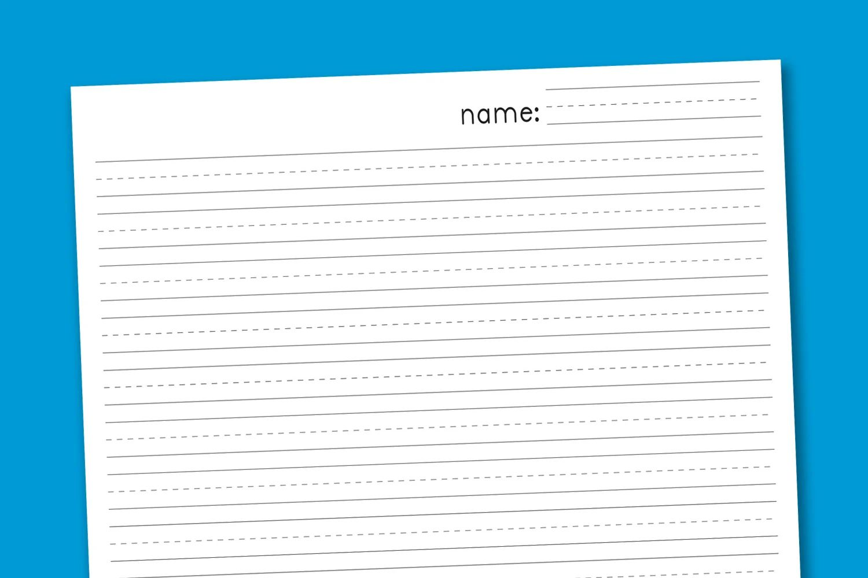 free printable handwriting paper for kindergarten