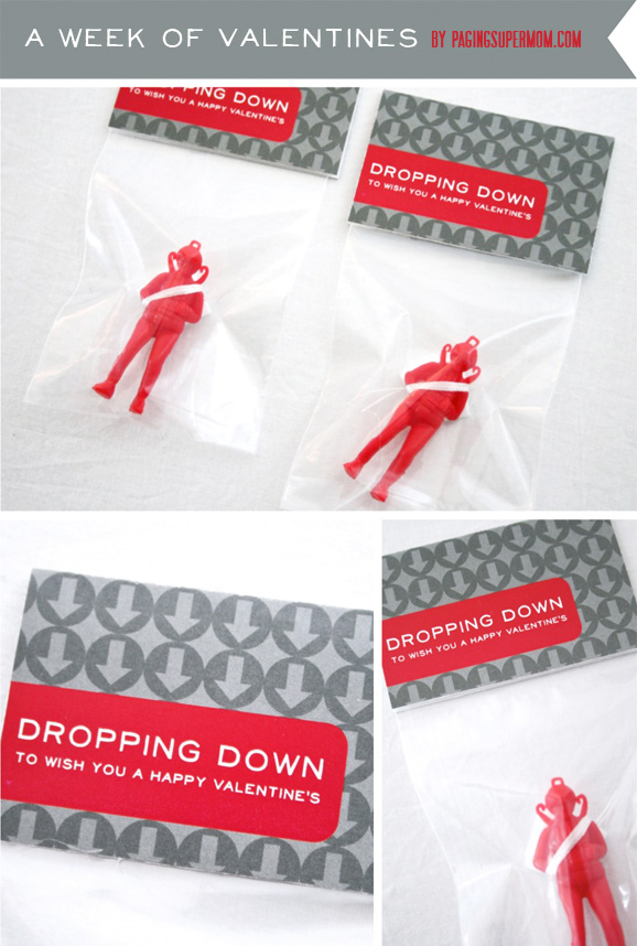 Parachute Man Boys Printable Valentines Ideas