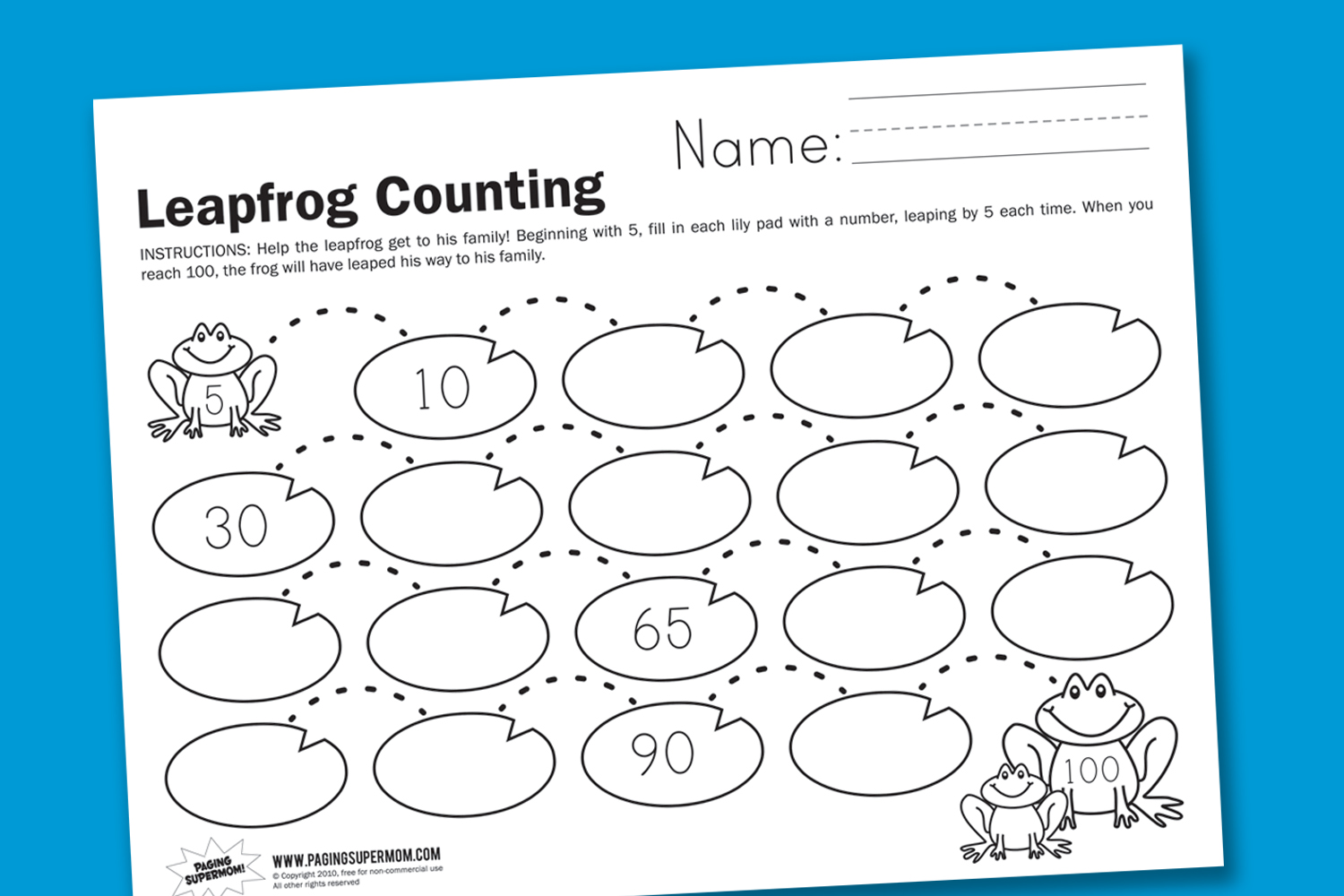 hight resolution of Leapfrog Counting - Paging Supermom