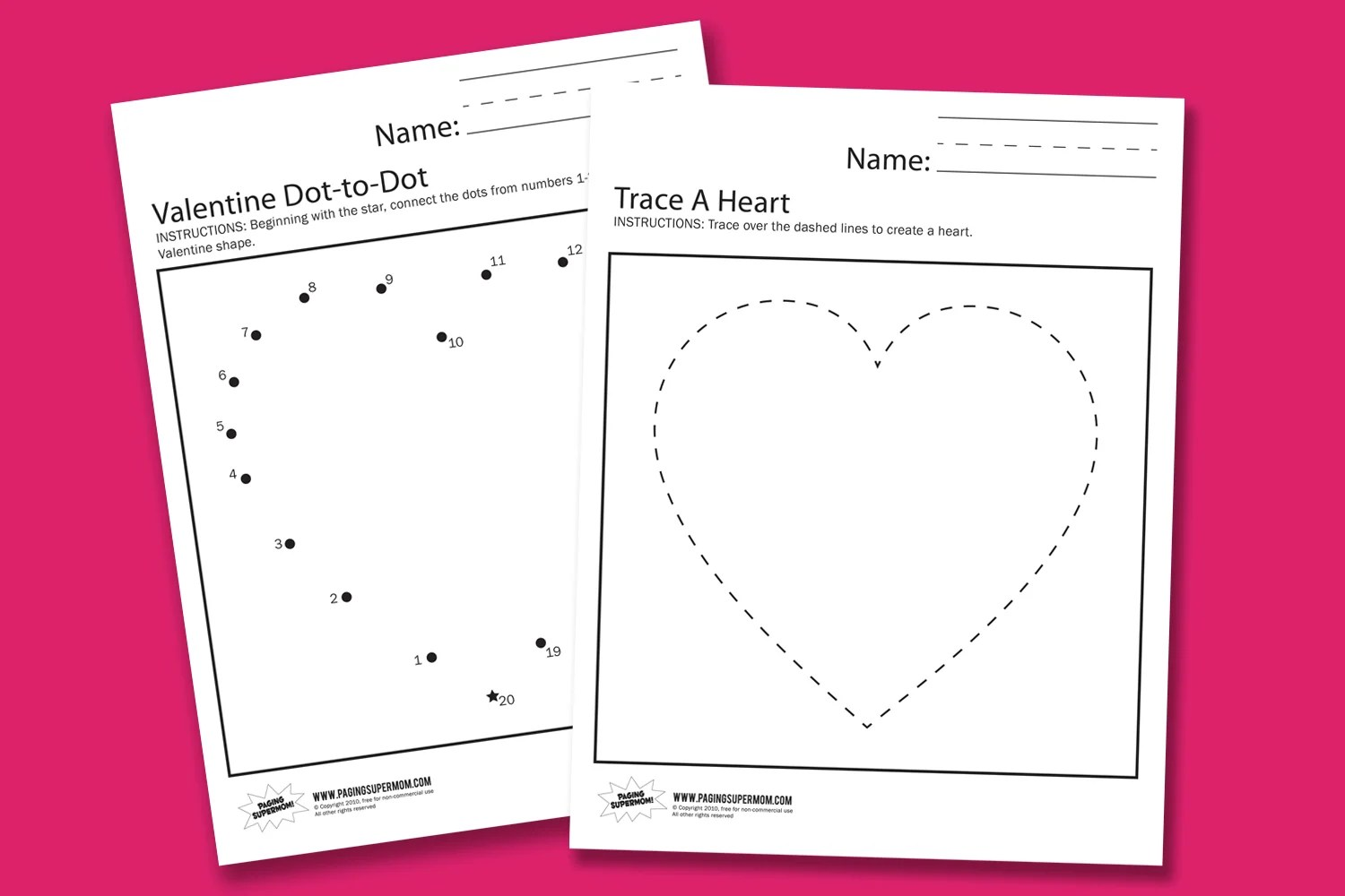 Valentine S Day Preschool Worksheet