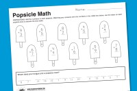 Worksheet Wednesday: Popsicle Math - Paging Supermom