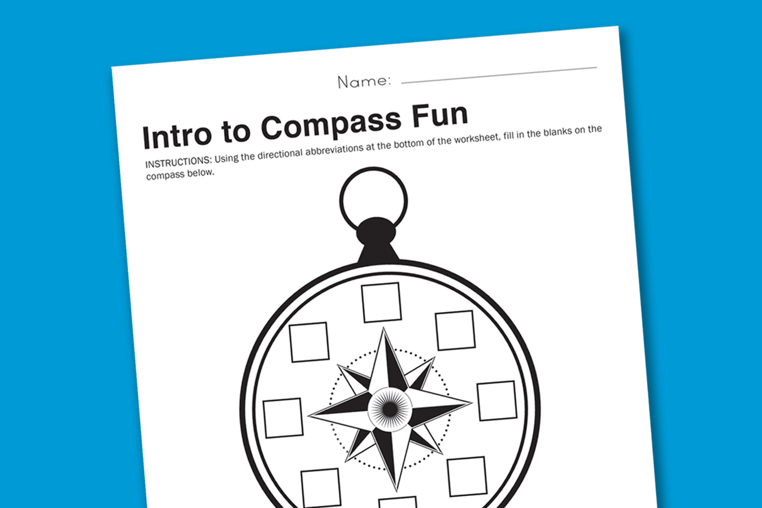 Worksheet Wednesday Intro To Compasses