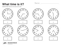 What Time Is It Printable Worksheet - Paging Supermom