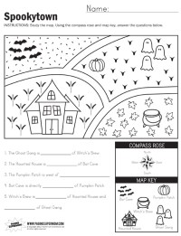 Spookytown Map Worksheet - Paging Supermom