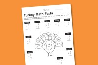 Worksheet Wednesday: Turkey Math Facts - Paging Supermom