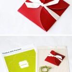 Imprimibles gratis: plantilla de cajita-sobre para regalar