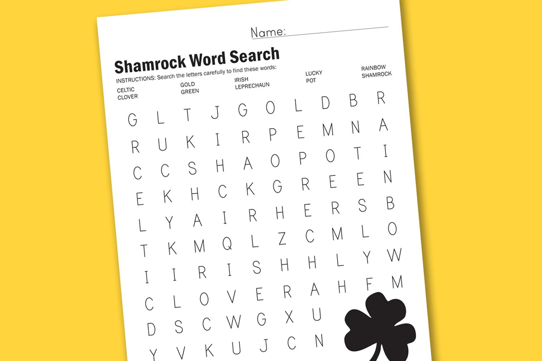 Shamrock Word Search