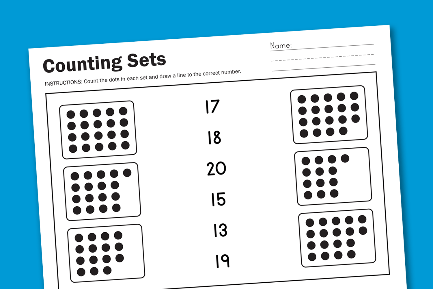 Worksheet Wednesday Counting Sets