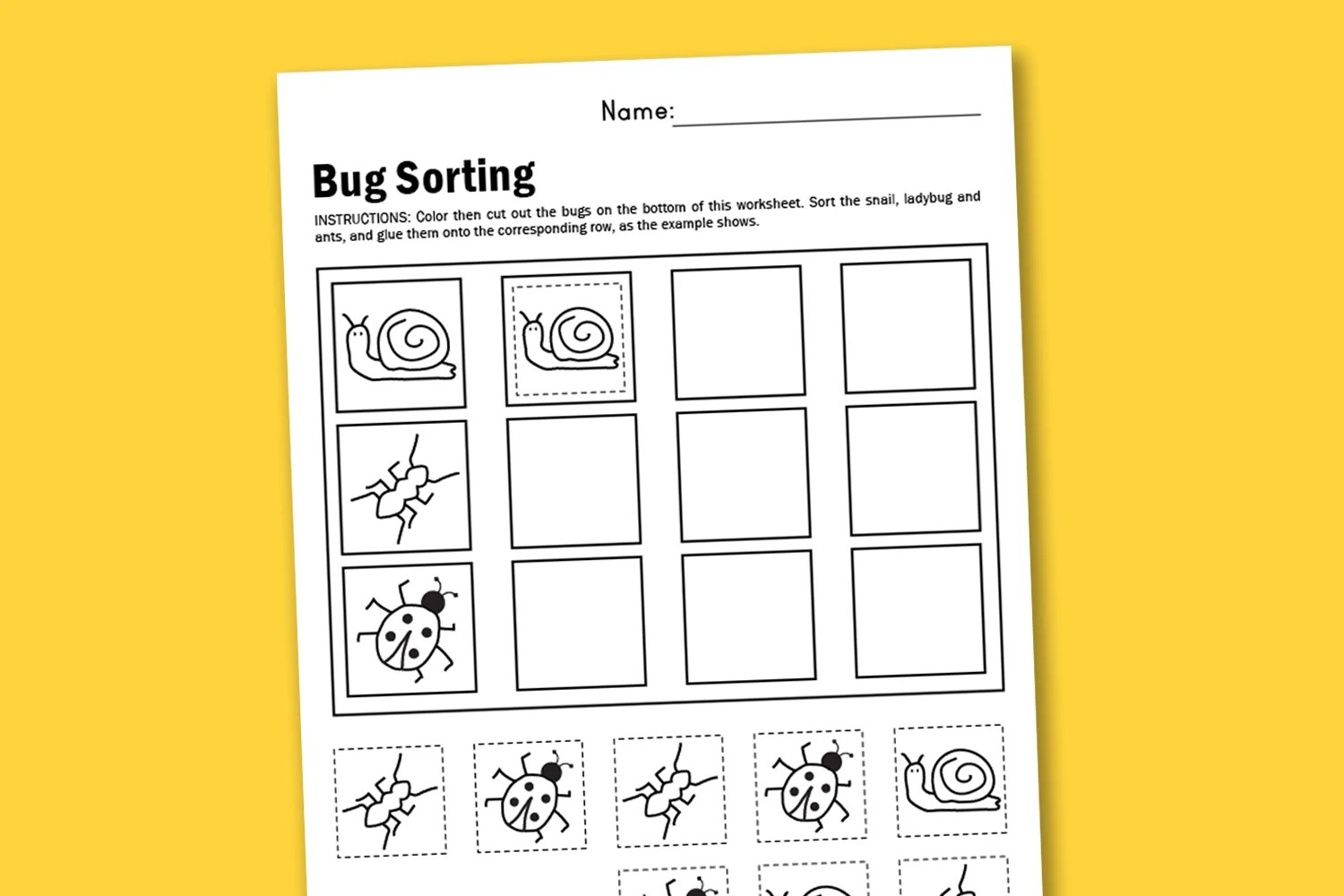 Worksheet Wednesday Bugs Bugs Bugs
