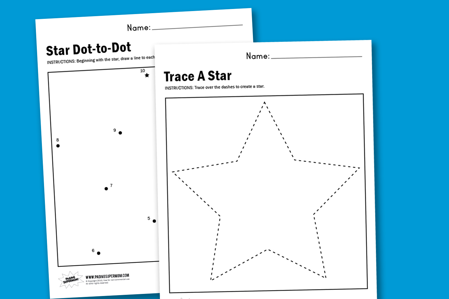 Worksheet Wednesday Make A Star