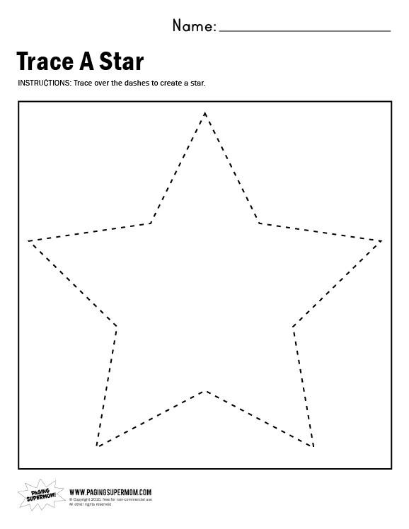 Traceastar Worksheet  Paging Supermom