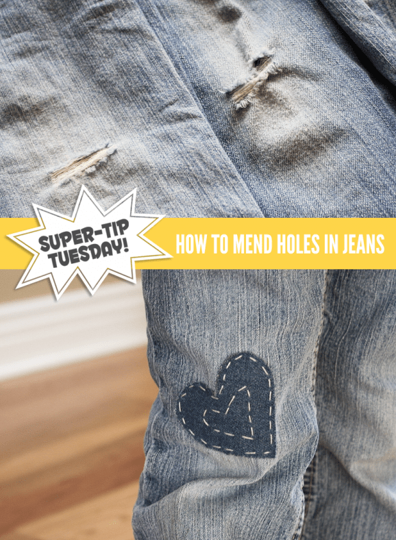Super Tip Mending Jeans Paging Supermom