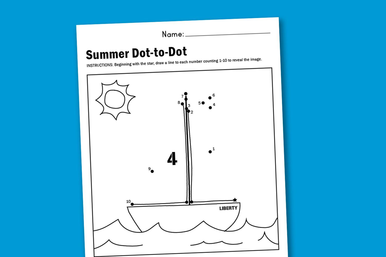 Worksheet Wednesday Summer Dot To Dot