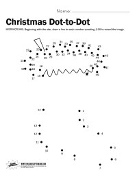 Christmas Dot-to-Dot Printable Worksheet - Paging Supermom