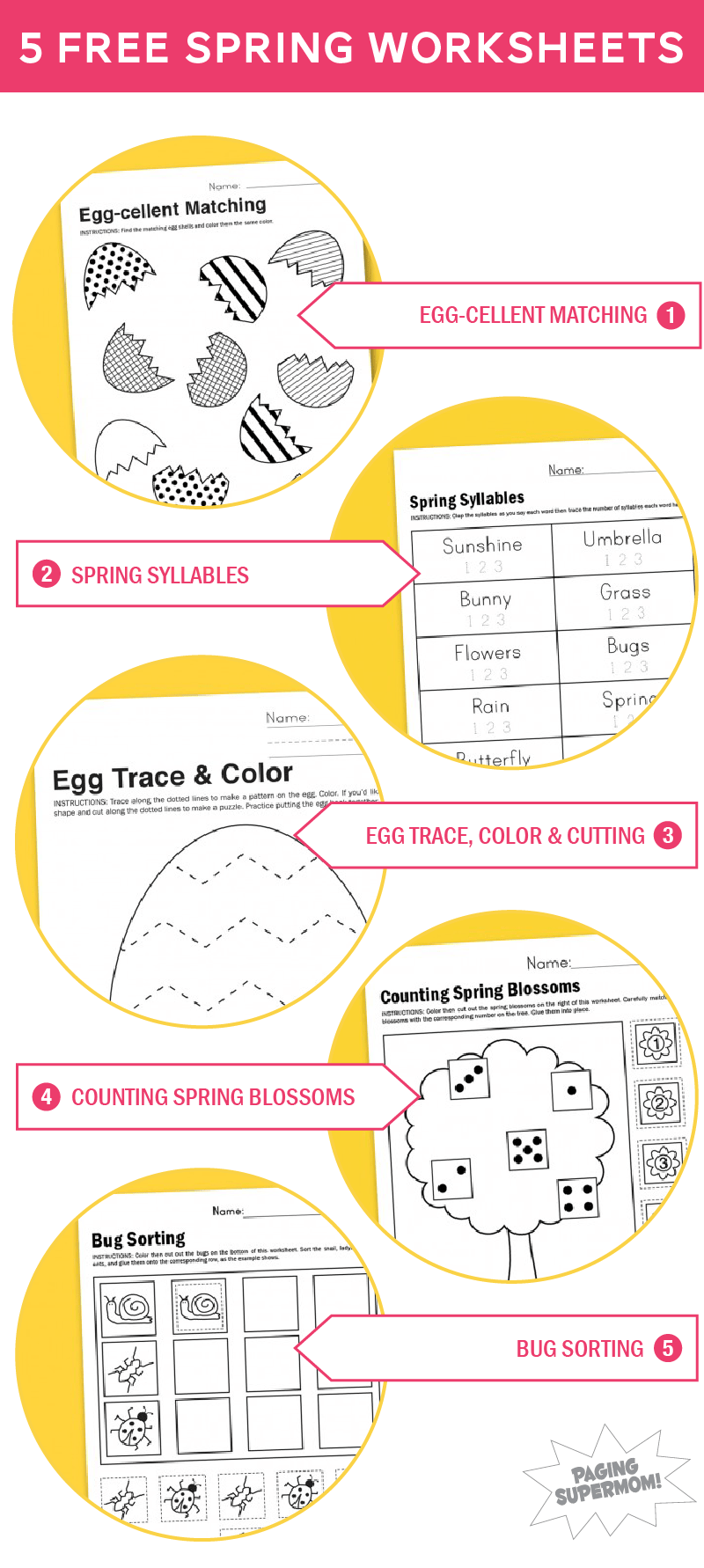 Free Printable Worksheets For Spring Paging Supermom