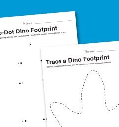 Worksheet Wednesday: Dinosaur Footprint - Paging Supermom [ 1000 x 1500 Pixel ]