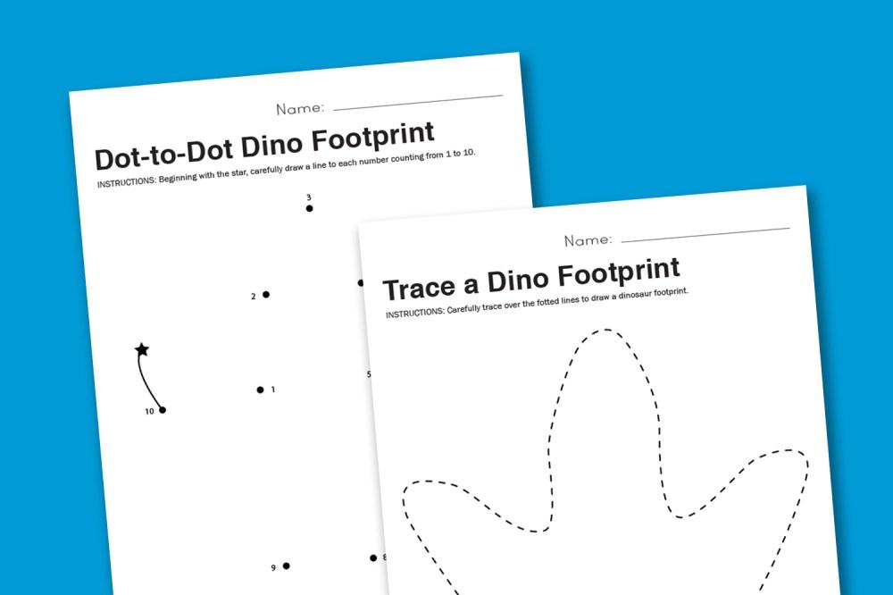 medium resolution of Worksheet Wednesday: Dinosaur Footprint - Paging Supermom