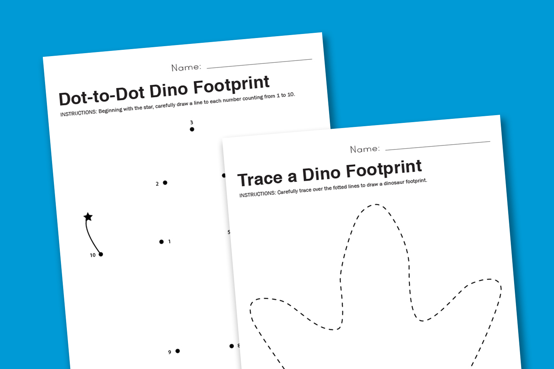hight resolution of Worksheet Wednesday: Dinosaur Footprint - Paging Supermom