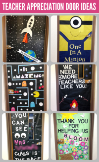 Teacher Appreciation Door Decorating - Paging Supermom