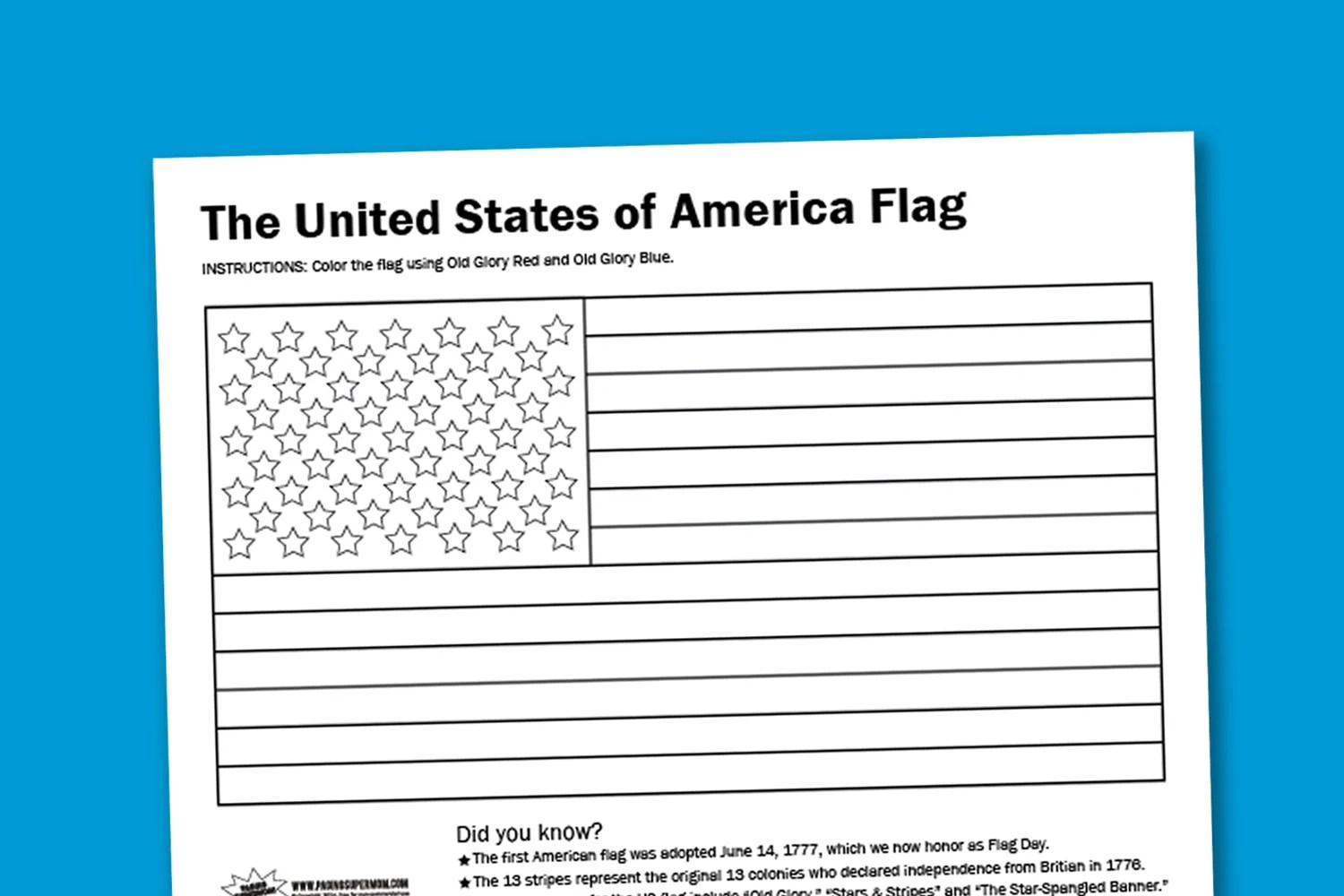 American Flag Worksheets