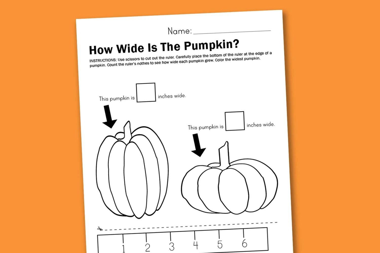Halloween Measurement Worksheet