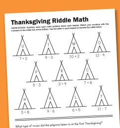 Worksheet Wednesday: Thanksgiving Math Riddle - Paging Supermom [ 1000 x 1500 Pixel ]