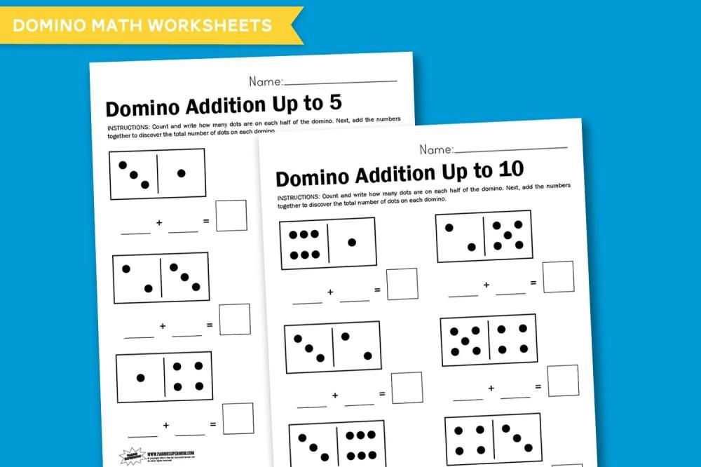 medium resolution of Worksheet Wednesday: Domino Math - Paging Supermom