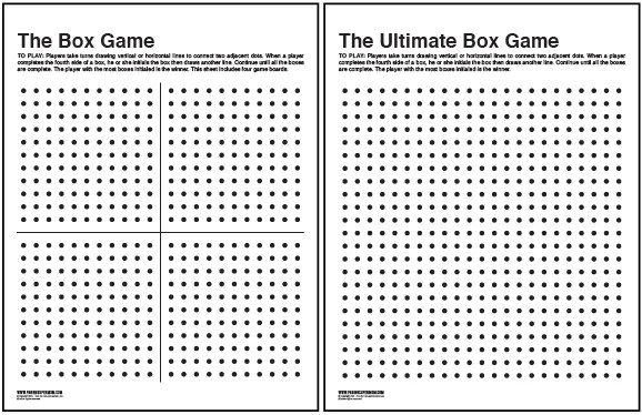 The Box Game Printable Paging Supermom