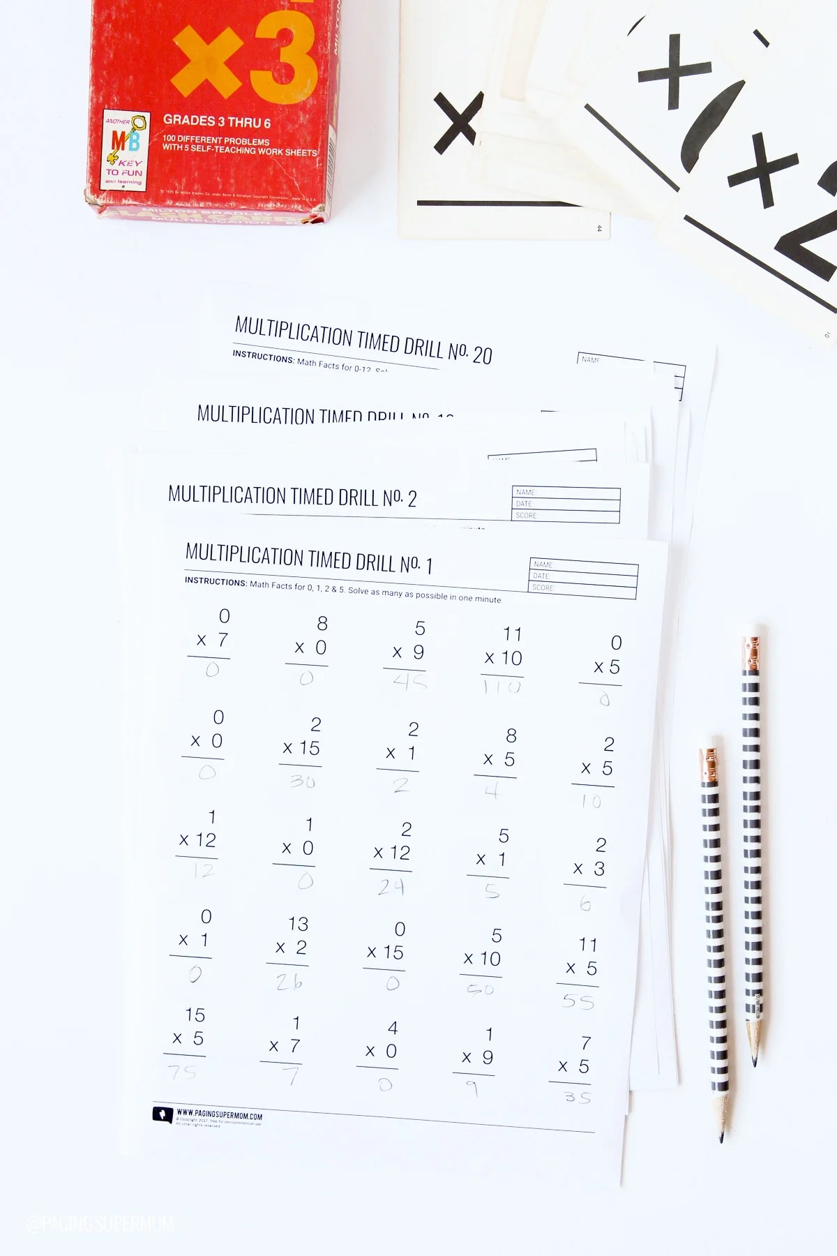 Worksheet Multiplication Speed Drills Grass Fedjp