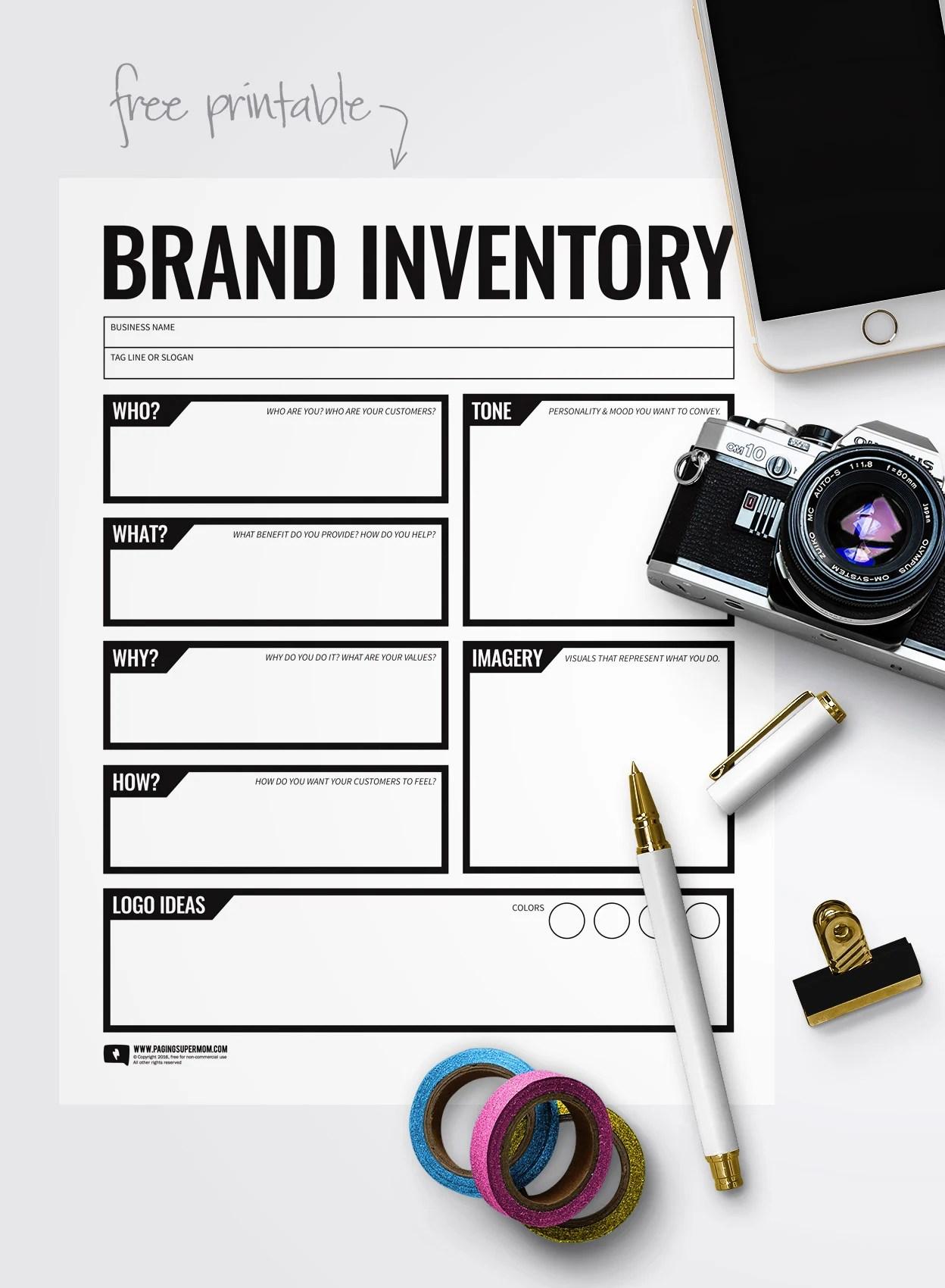 Free Branding Worksheet