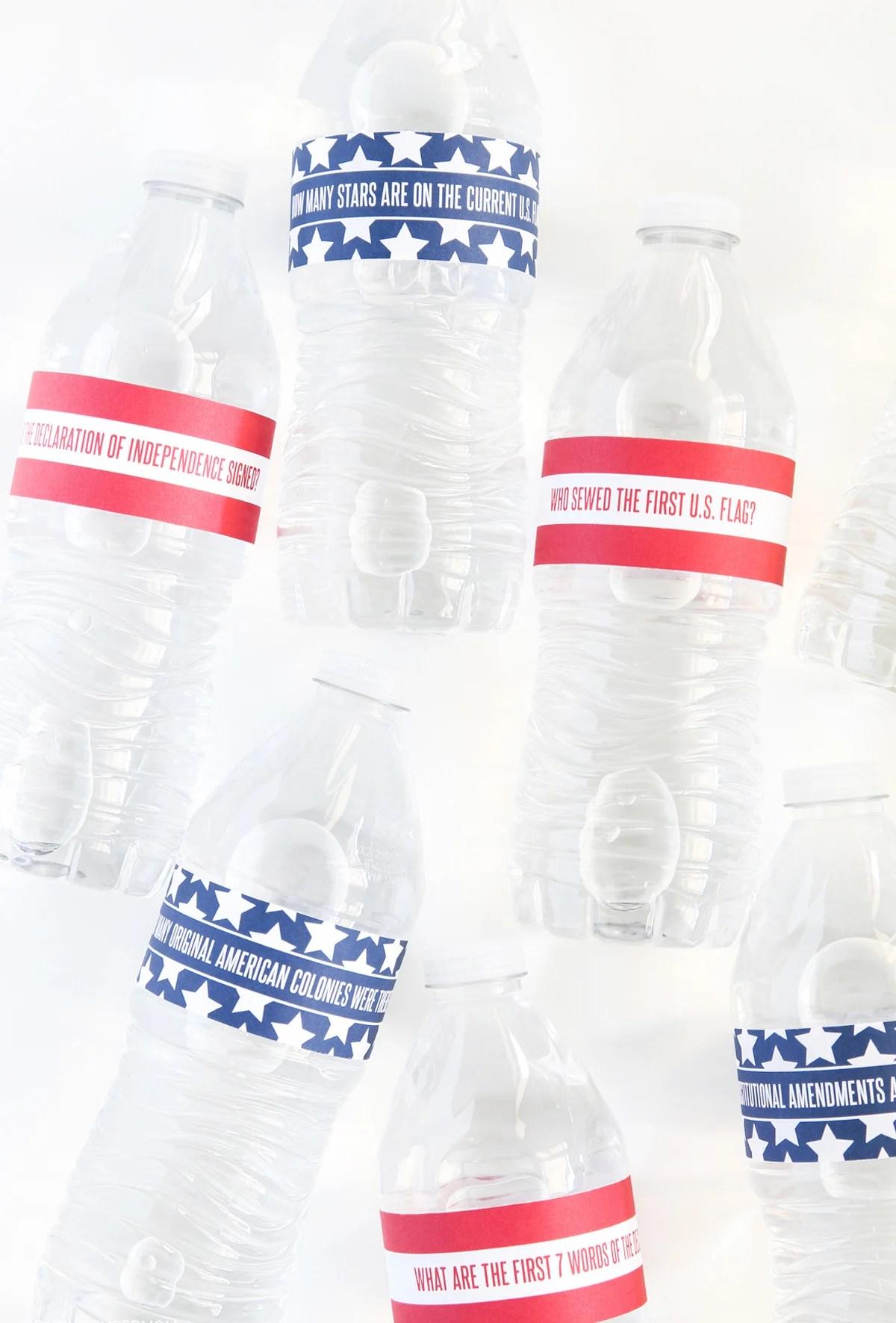 July 4th Water Bottle Wraps