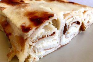 Secțiune clătite cu brânză dulce la cuptor