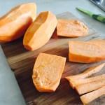Cartof dulce pentru salată de toamnă