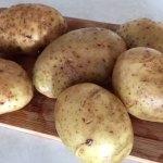 Cartofi noi pentru cartofi acordeon pe băț de frigăruie