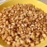 Gutui cubulețe pentru dulceață de gutui cu aromă de vanilie