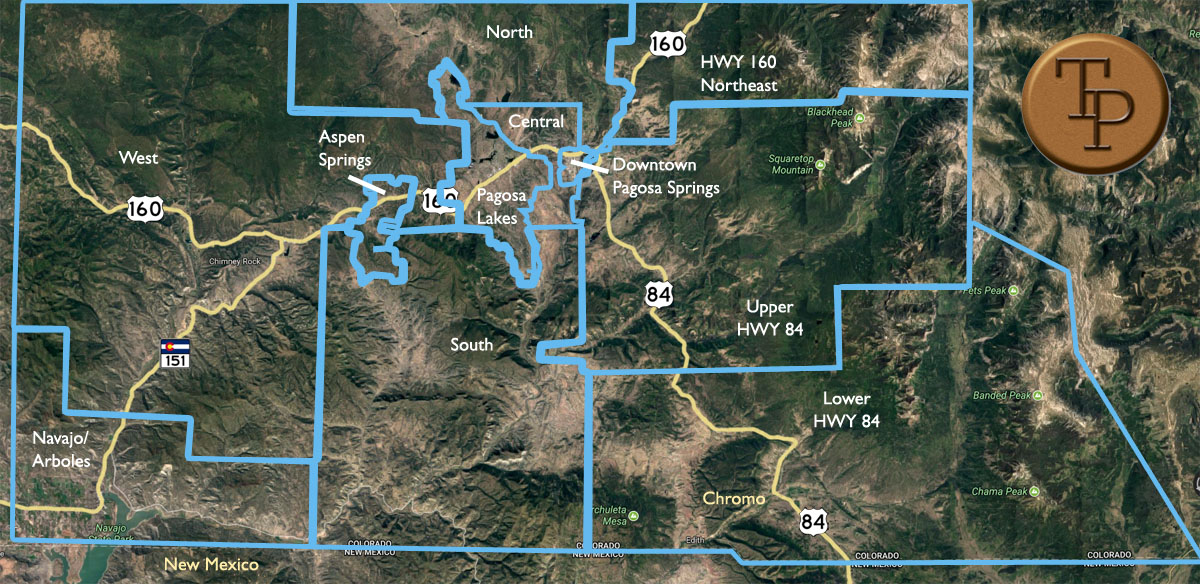 pagosa springs neighborhood map