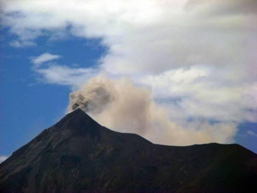 The Fuego volcano of Guatemala in eruption.