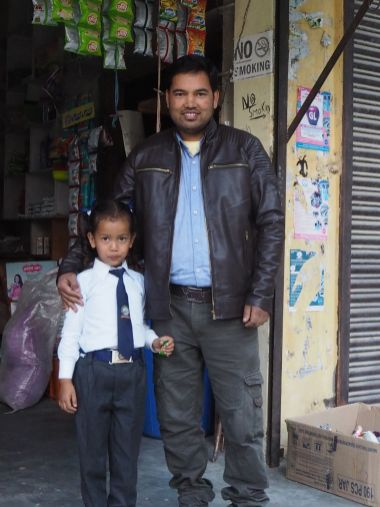 Pal Pash Thakur and his daughter