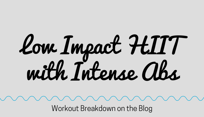 LOW IMPACT Cardio HIIT Super Intense ABS