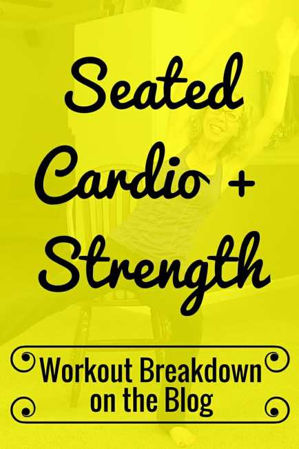 High Intensity Seated Cardio and Strength Home Workout with a Chair from Pahla B Fitness