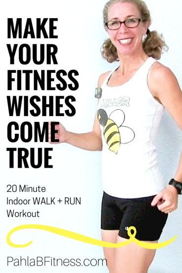 20 Minute Indoor RUNNING + WALKING Workout How to Make Your Fitness WISHES Come True - Full Length Home Workout from Pahla B Fitness