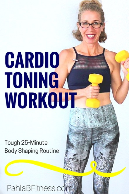 25 Minute CARDIO TONING High Low Workout Tough + Effective Full Body SHAPING Routine - Full Length Home Workout from Pahla B Fitness