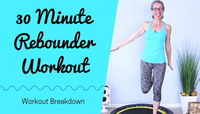 30 Minute SWEATFEST _ All CARDIO 300 Calorie Mini Trampoline Rebounder Workout - BLOG Featured Photo